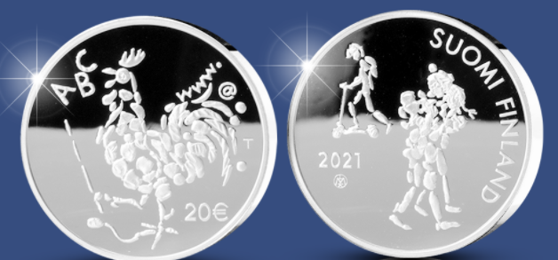 €20 Silver coin celebrating 100 years of Compulsory Education Act in Finland