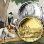 "2021 Silver €10, €25 and gold €50 coins - ""WASHINGTON's Boston siege"""