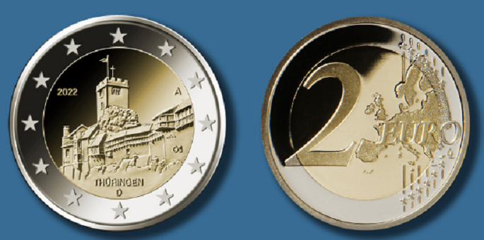 Programme numismatique de l'Allemagne 2022
