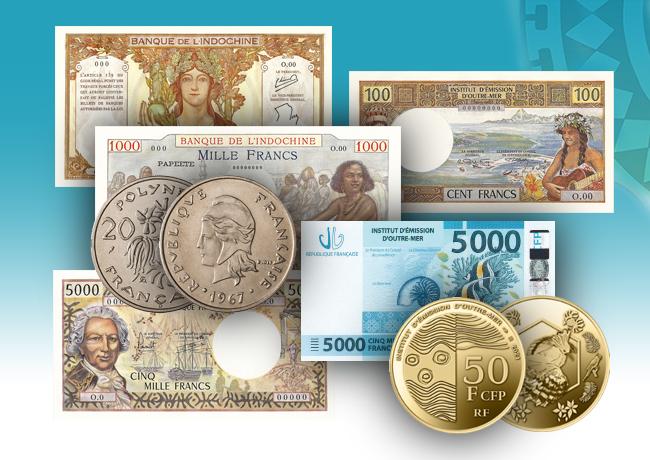 Monnaies & Billets de la Polynésie Française – le Franc Pacifique