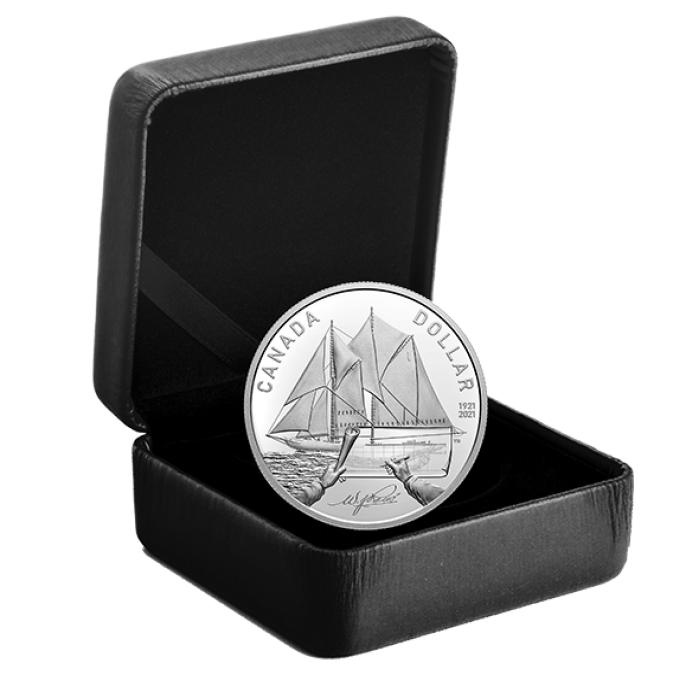 Royal canadian Mint celebrates 100th anniversary of bluenose ship