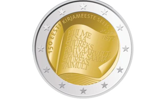 2022 €2commemorative coin 150th anniversary Society of Estonian Literati