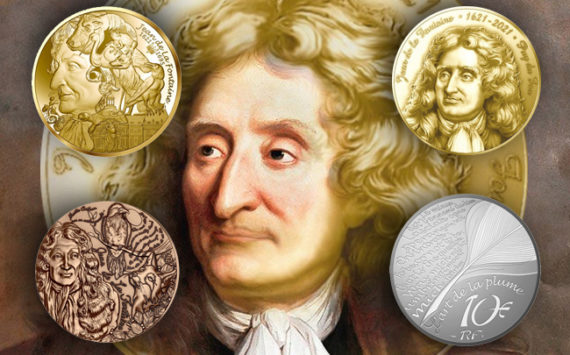 Médaille et Monnaie du 400e anniversaire de la naissance de Jean de la Fontaine à Château-Thierry