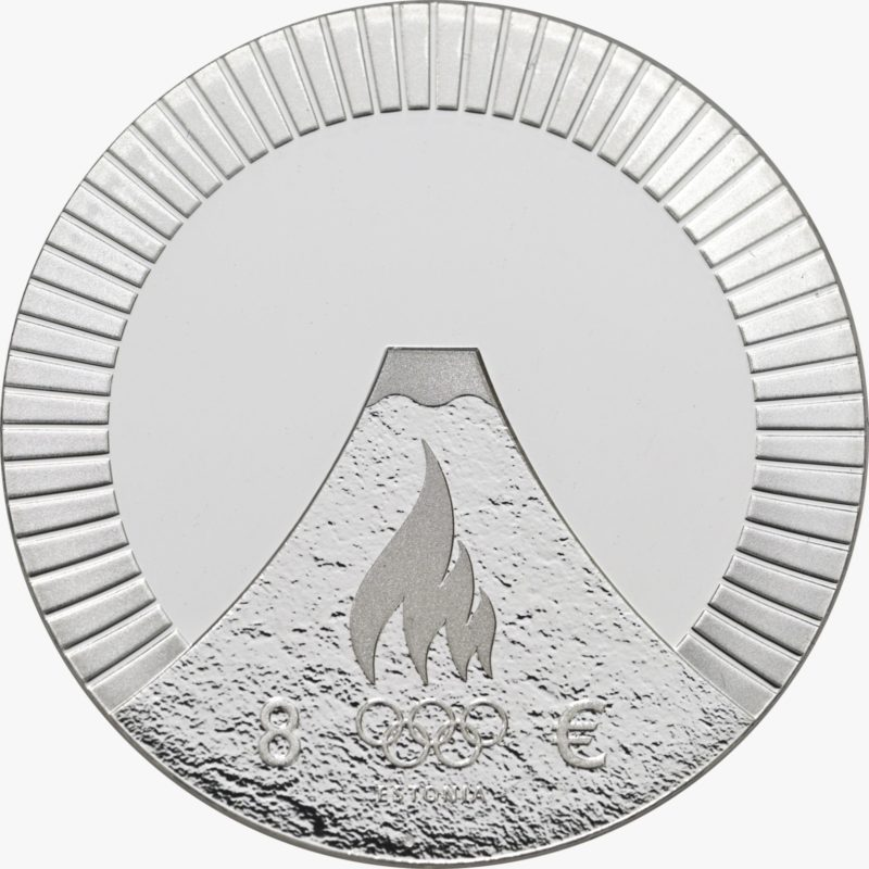 €8 estonian coin for 2021 Tokyo Olympics