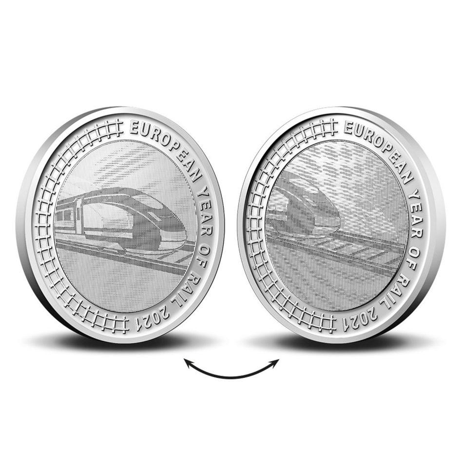 La Belgique célèbre l'année du rail avec une pièce de 5€ en 2021
