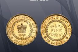 Australia 5 pounds 1852 (1921) gold pattern, 06/12/2021 MDC Auction