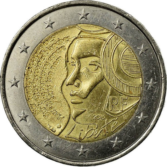 €2 2015 - 225th anniversary of the Federation Day, proof coin over €200