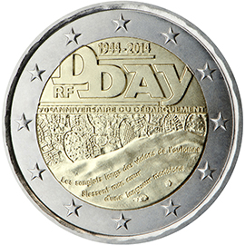 2014 €2 D DAY commemorative coin: a proof coin that is worth over €100