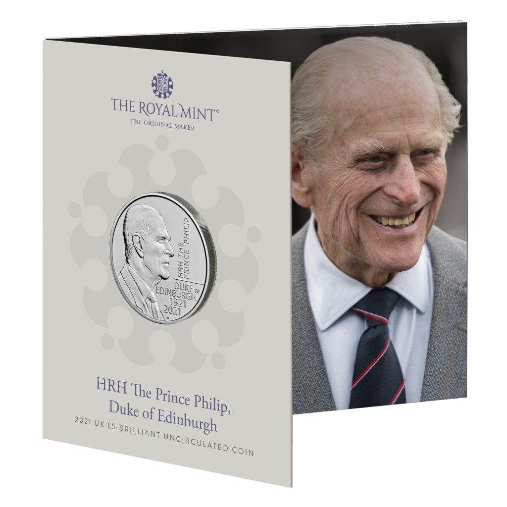 New £5 commemorative coin dedicated to Prince Philip