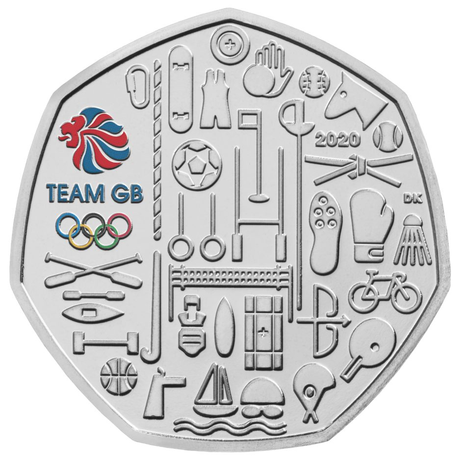 A 2021 50p commemorative coin for TOKYO OLYMPICS, by Royal Mint
