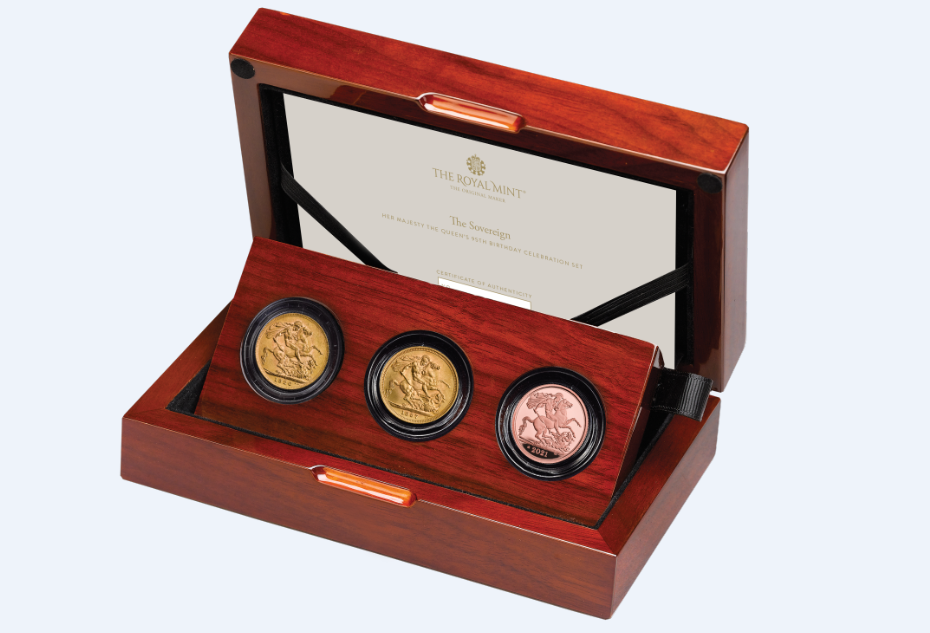 Royal Mint celebrates Queen Elizabeth's 95th birthday with a three coins set