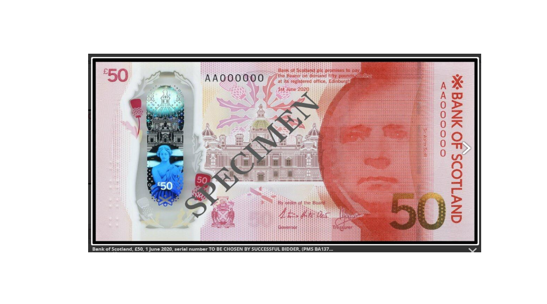 A Charity Auction of Bank of Scotland £50 Notes at SPINK LONDON