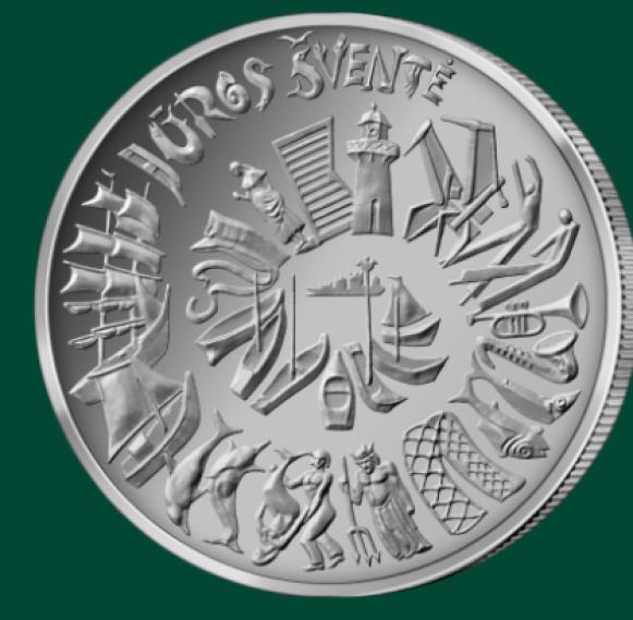 2021 lithuanian €1.5 coin Sea Festival