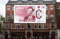 Un nouveau billet de 50 livres TURING vendu 15 000€ chez SPINK LONDON
