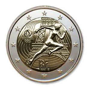"""2021 €2  coin """"2024 - The handing-over of the Olympic flag """", by Monnaie de Paris 2021"""