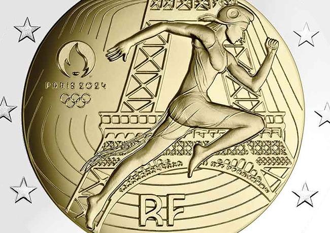 2€ euro JO 2024 France «La remise du drapeau olympique» Monnaie de Paris 2021