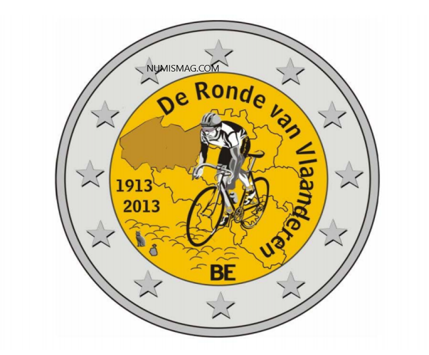 Belgian 2013 €2 - Tour of Flanders (not issued)