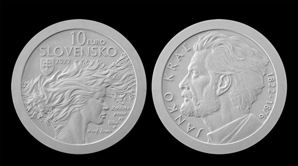 10€ slovaque 2022 - 200 ans de la naissance de JANKO KRAL