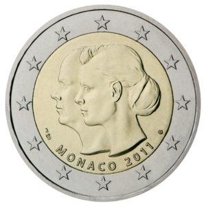2021 Monaco €2 10th anniversary wedding of Prince Albert and Charlene