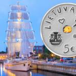 1.5€ et 5€ 2021 commémorant le Festival de la mer en Lituanie