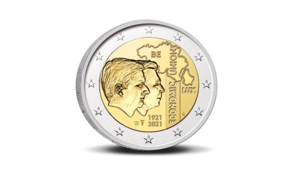 2€ 2021 100 ans de l'Union économique Belgique – Luxembourg (UEBL)