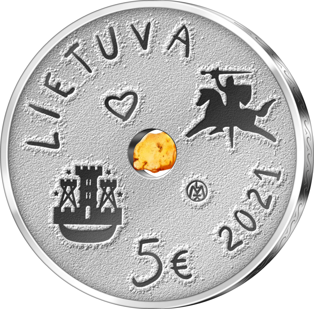 2021 lithuanian €5 and €1.5 coin Sea Festival