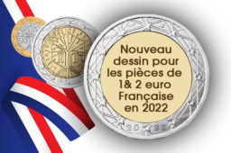 Nouvelle face nationale pour les pièces de 1 & 2 euro françaises en 2022