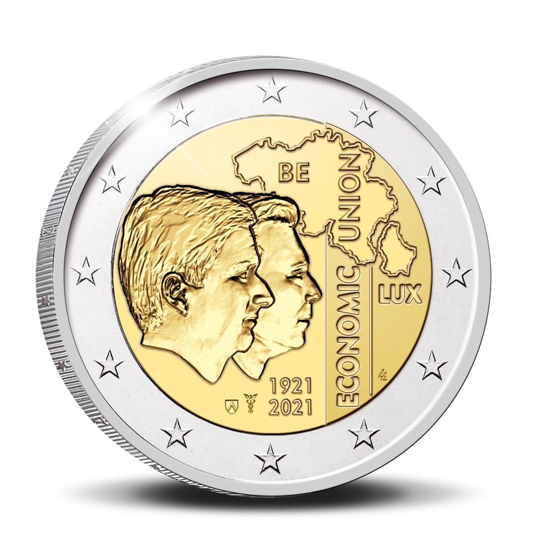 2 euro 2021 - 100th anniversary of Belgium-Luxemburg economic union