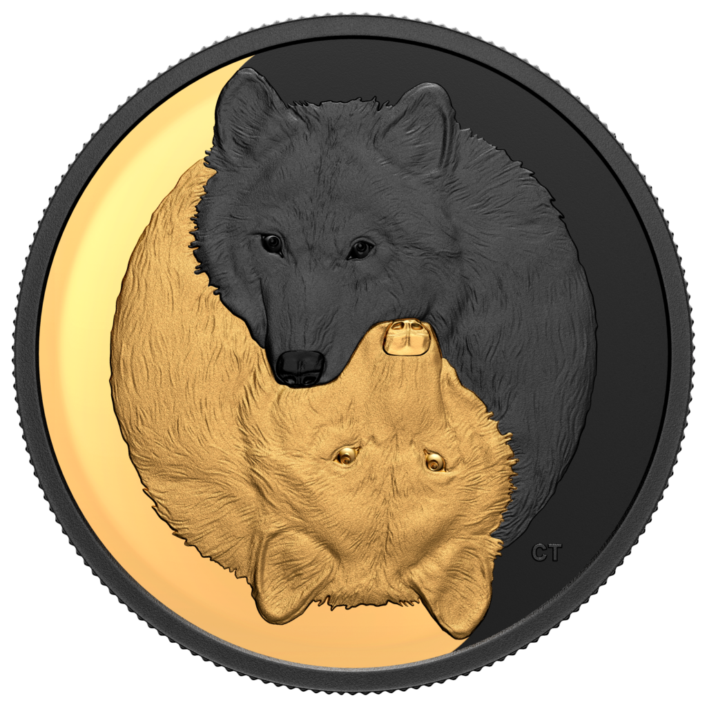 Get a gold and rhodium grey wolf from Royal Canadian Mint in 2021