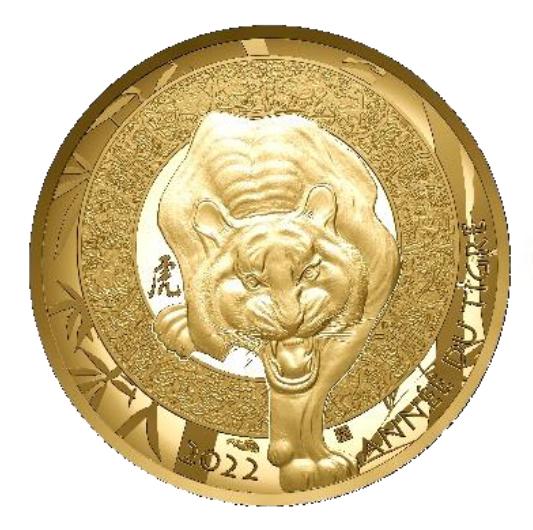 Calendrier chinois  Année du Tigre - Monnaie de Paris 2021