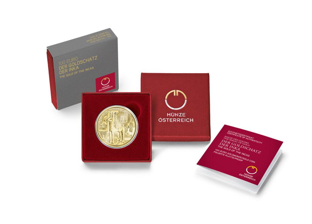 2021 Austrian €100 Gold of the Incas