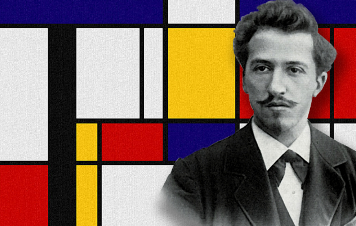 2022 €5 coin dedicated to Piet Mondrian