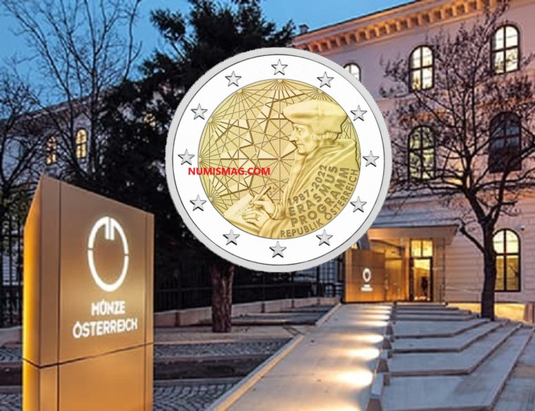 Programme numismatique autrichien 2022 – ERASMUS à l'honneur!