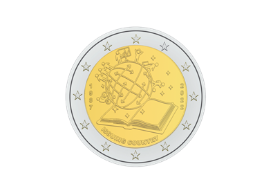 2022 belgian €2 ERASMUS coin - added specifications (issued and unissued coin)