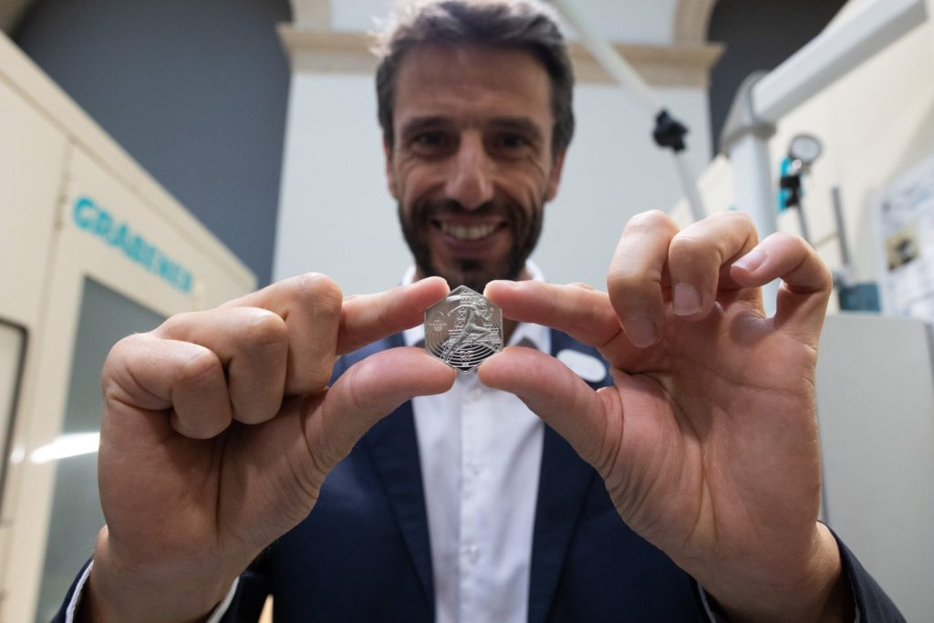 """Official first strike - silver €10 """"Olympics of Paris - 2024"""" at the french mint"""