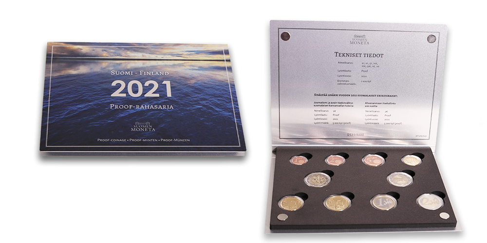 2021 Finland last BU set and the annual proof set announced