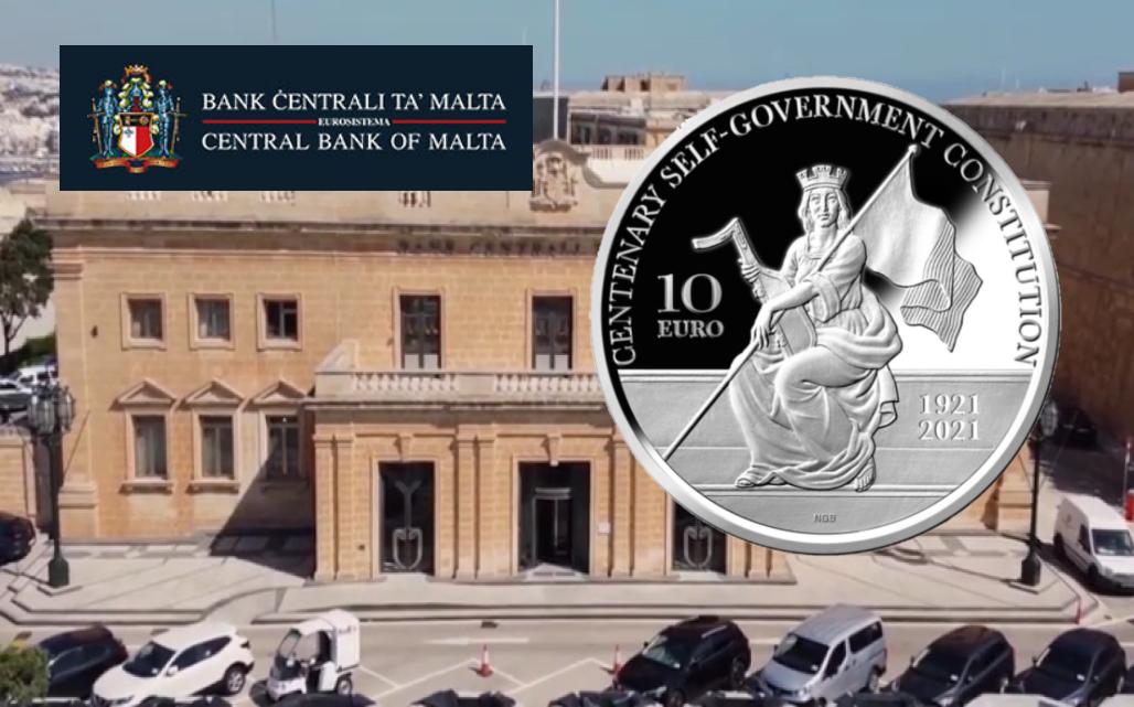 €10 silver proof coin – Centenary 1921 Malta self-government constitution