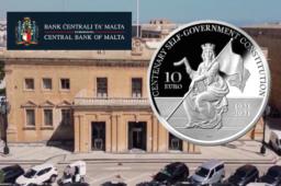 Pièce de 10€ en argent BE – Centenaire de la constitution maltaise de 1921