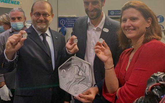 Frappe inaugurale – 10€ argent «JO de Paris – 2024» à la Monnaie de Paris
