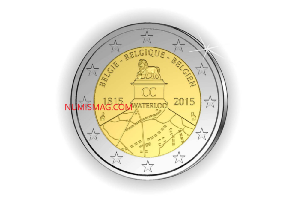 2015 belgian €2 Waterloo: first controversy over a commemorative coin