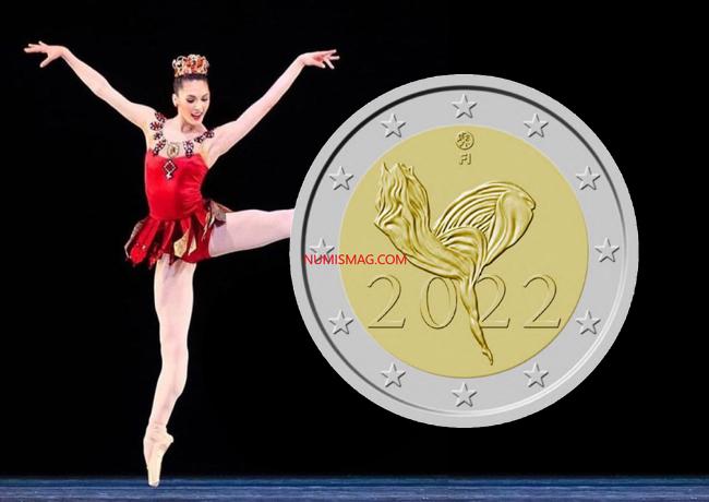 2€ commémorative finlandaise 2022 – 100 ans du ballet national