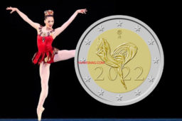 2022 new €2 commemorative coin from Finland: National Ballet.