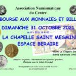 Bourse numismatique 2021 de la Chapelle Saint Mesmin (Orléans)