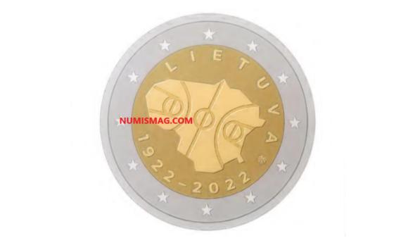 2€ 2022 de la Lituanie – «100 ans du Basketball en Lituanie»